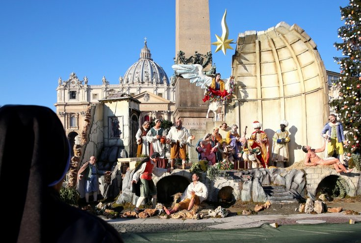 Pope Francis Vatican Nativity Scene