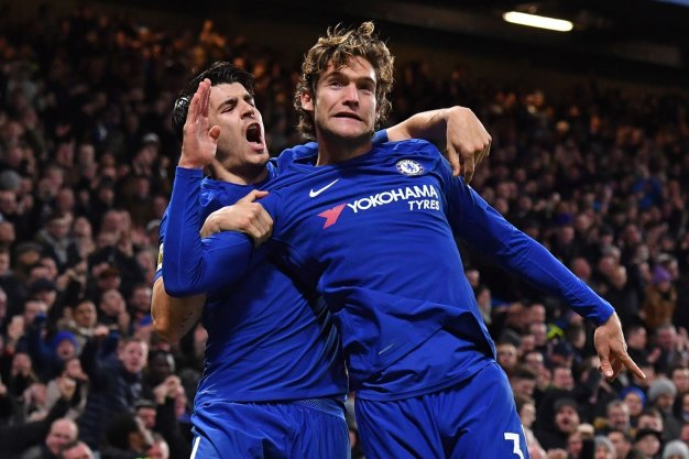 Alvaro Morata and Marcos Alonso