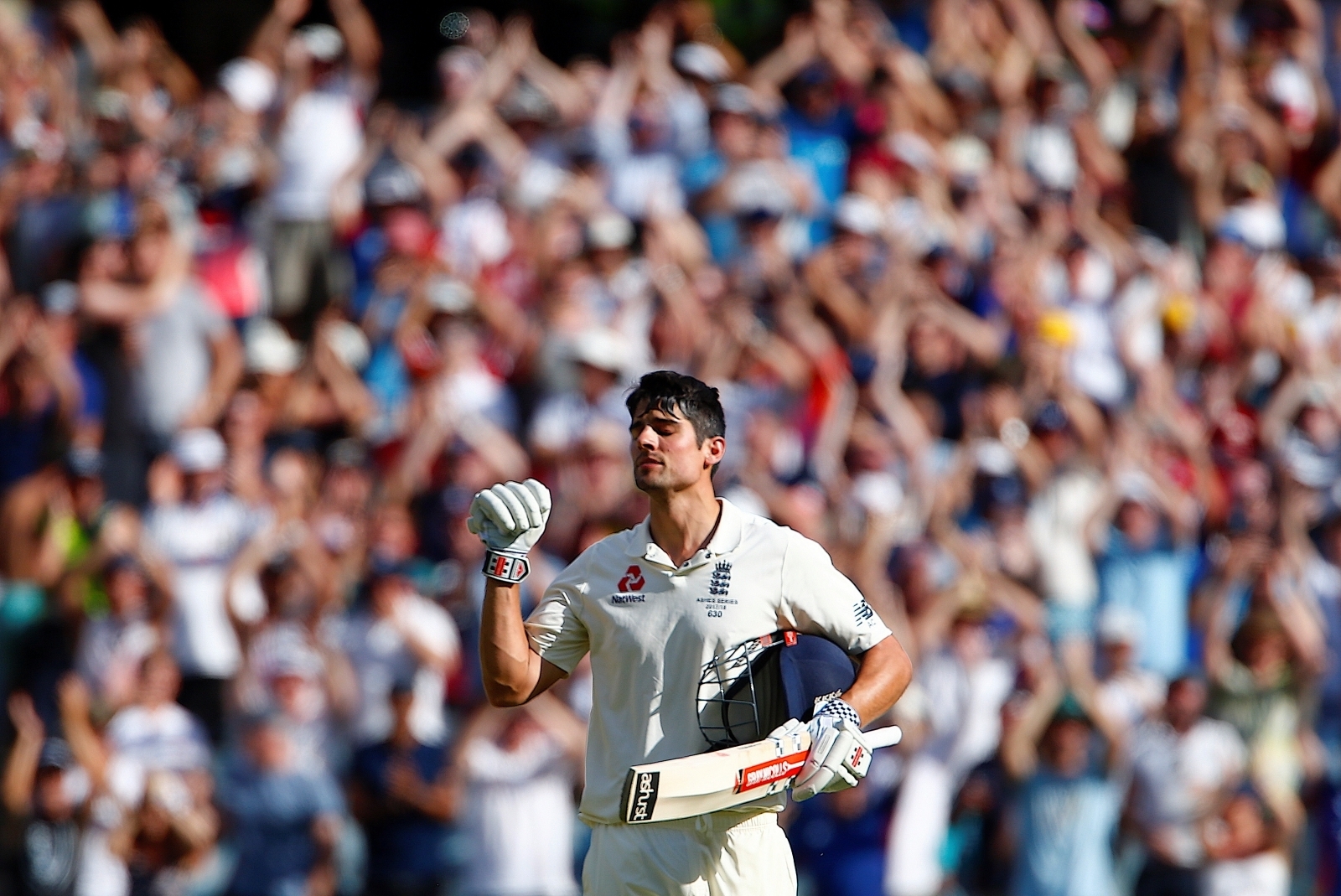Cook shines as England shows fight in Ashes
