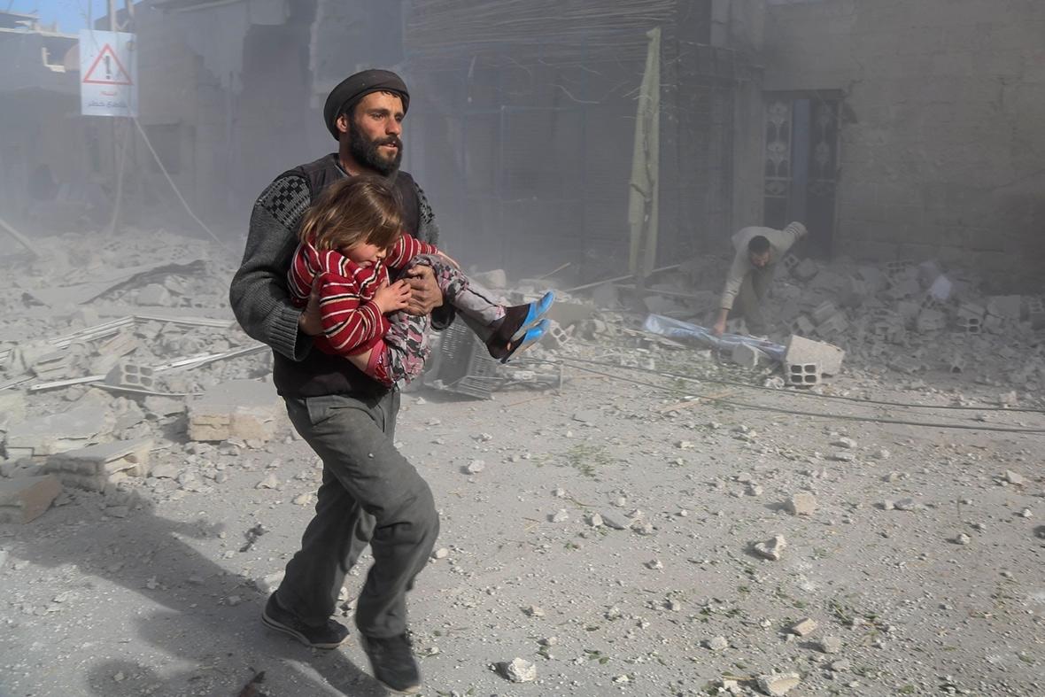 Syria ghouta children cancer