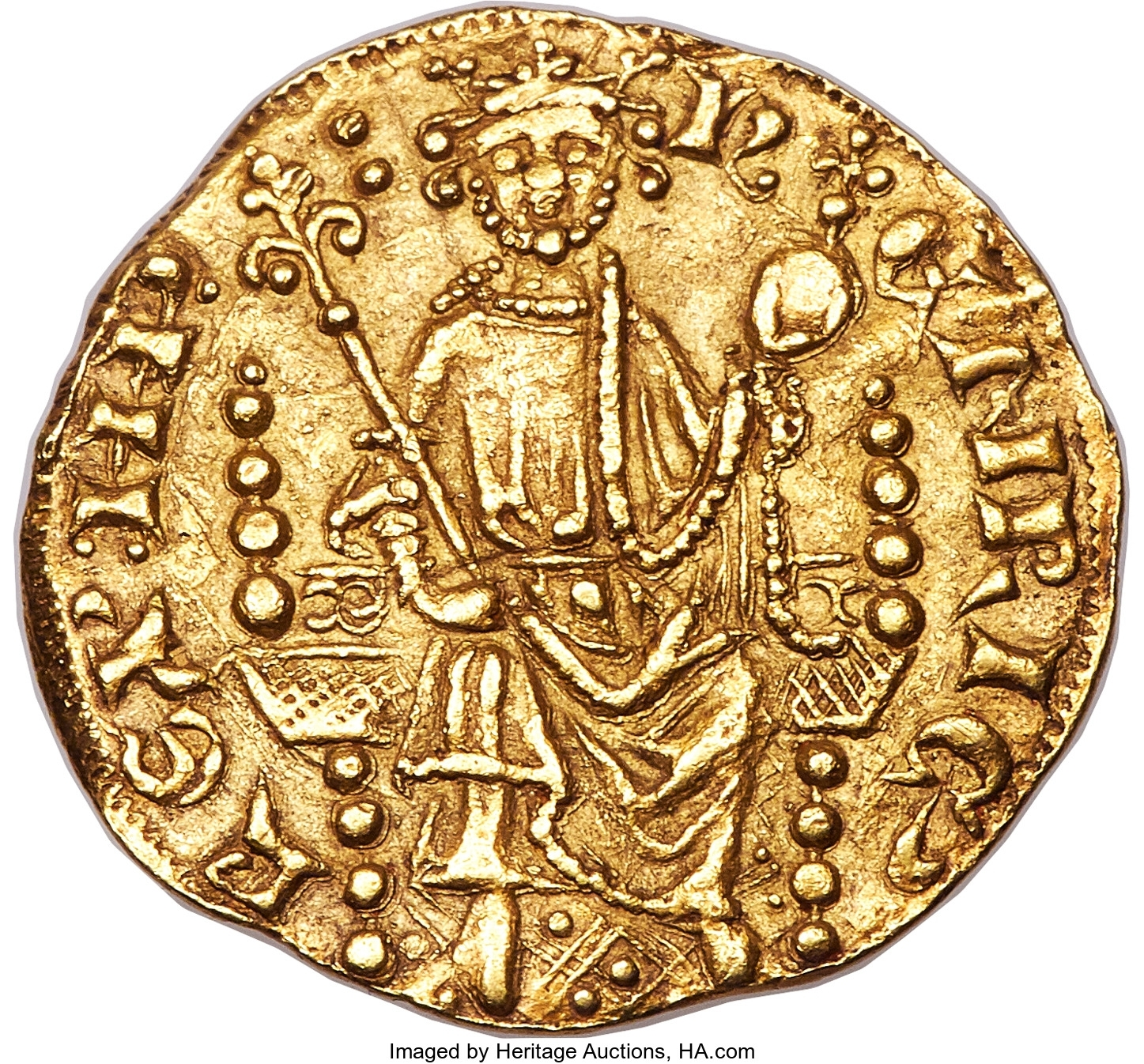 Henry III (1216-1272) gold Penny of 20 Pence ND (c. 1257)
