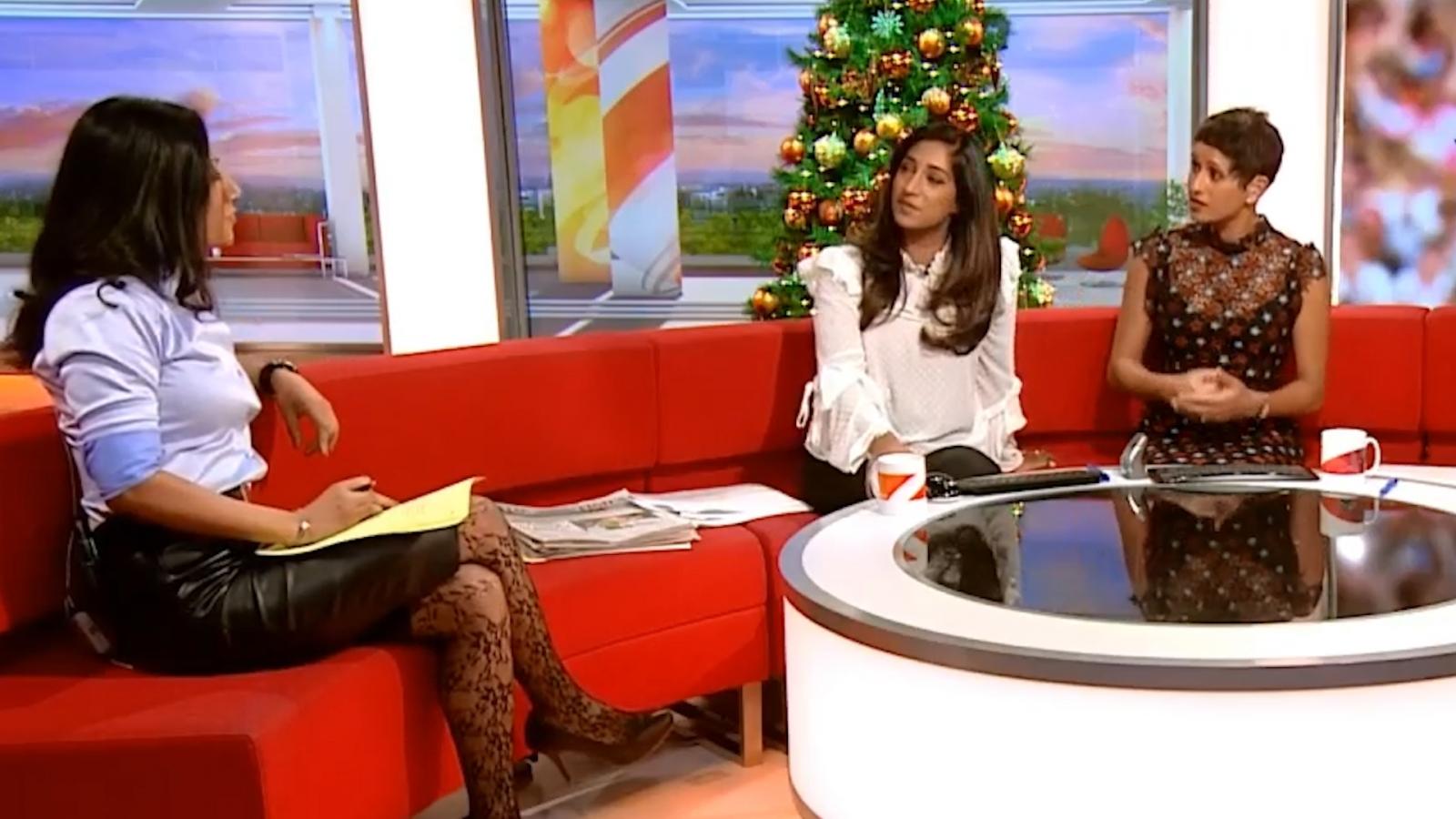 BBC Breakfast show presented by three Asian women