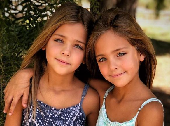 Identical twins Leah Rose and Ava Marie