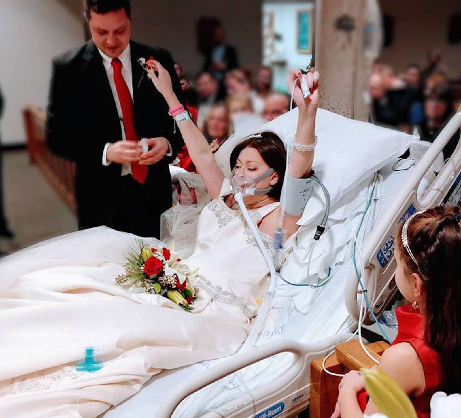 The Emotional Moment A Bride Suffering From Cancer Is