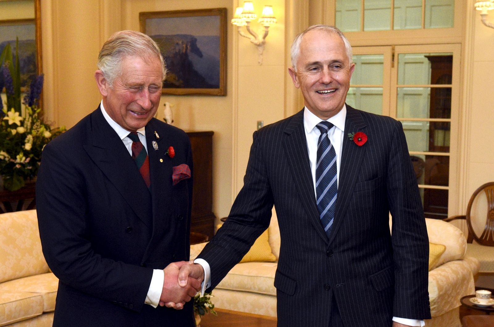 Malcolm Turnbull and Prince Charles