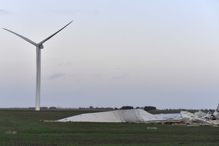FRANCE STORM CARMEN WIND TURBINE