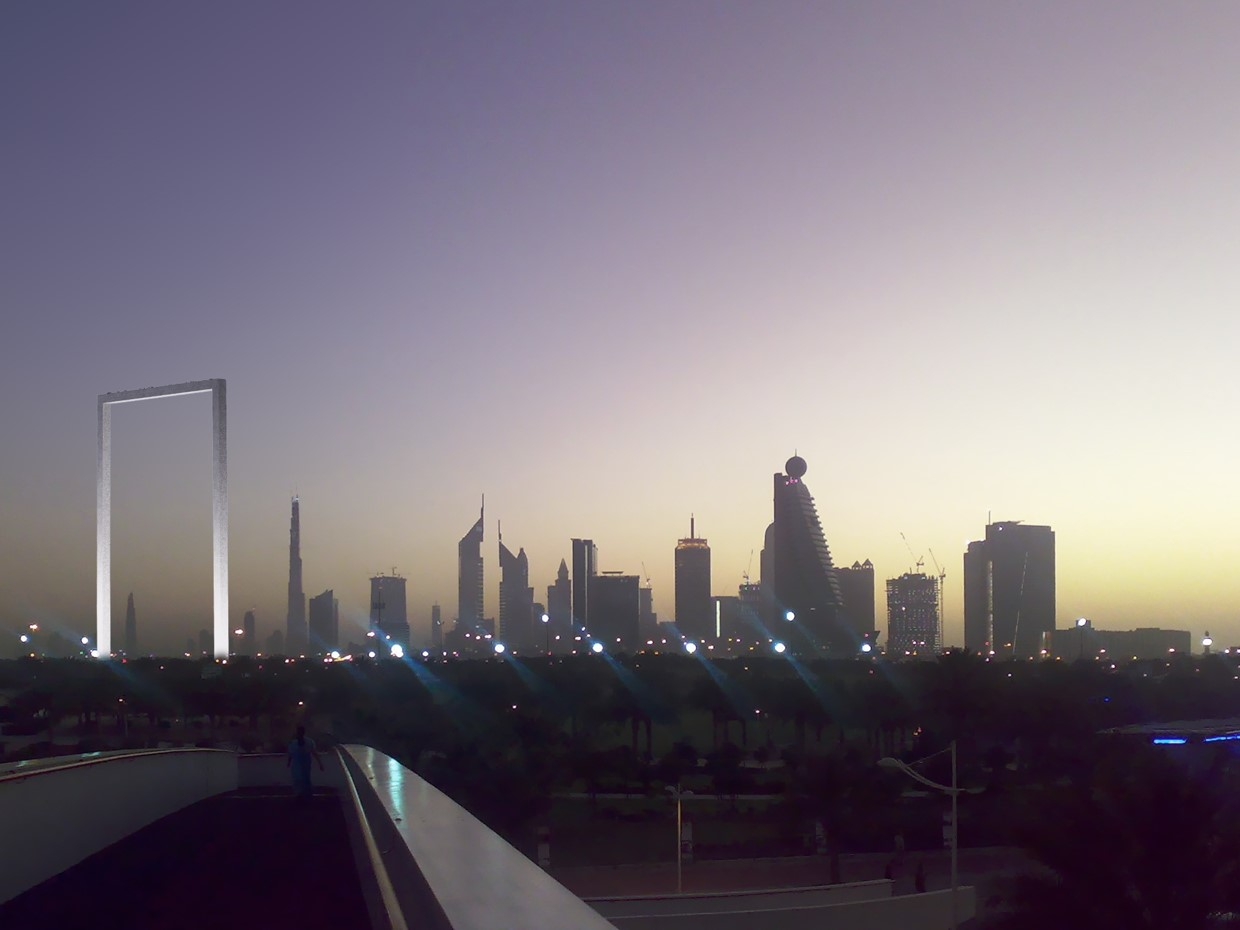 The 150-metre Dubai Frame opened on New Year's Day in the emirate's Zabeel Park