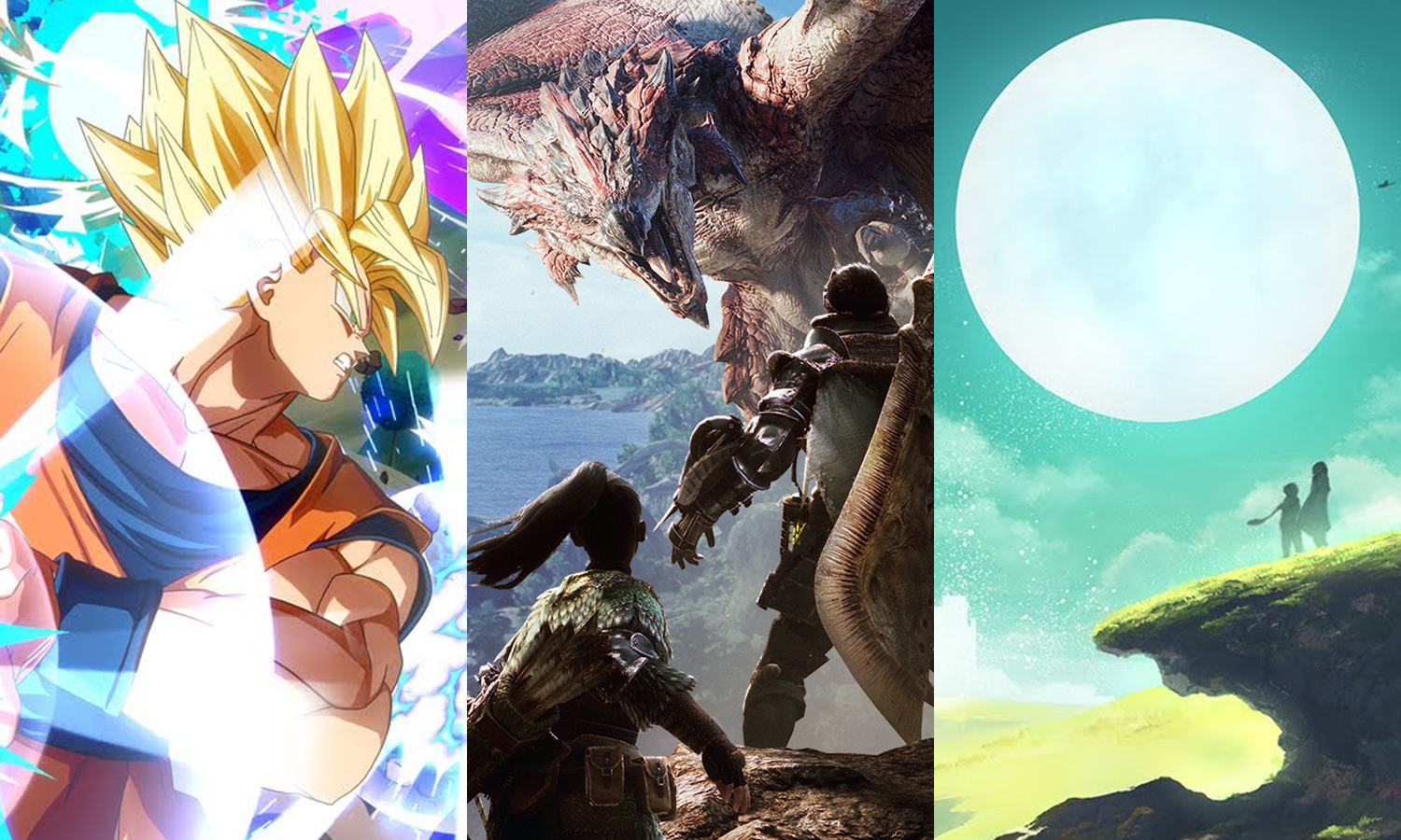 January 2018 Monster Hunter Dragon Ball FighterZ