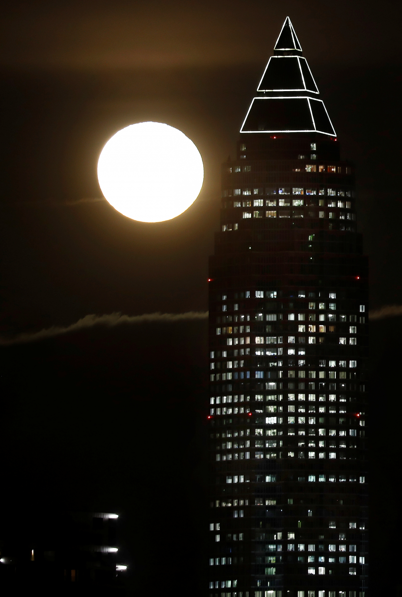 Supermoon in Germany