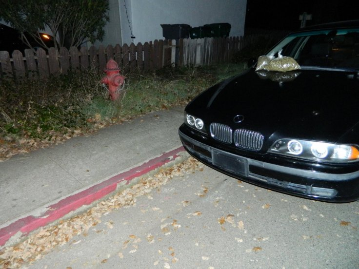 Illegally parked BMW