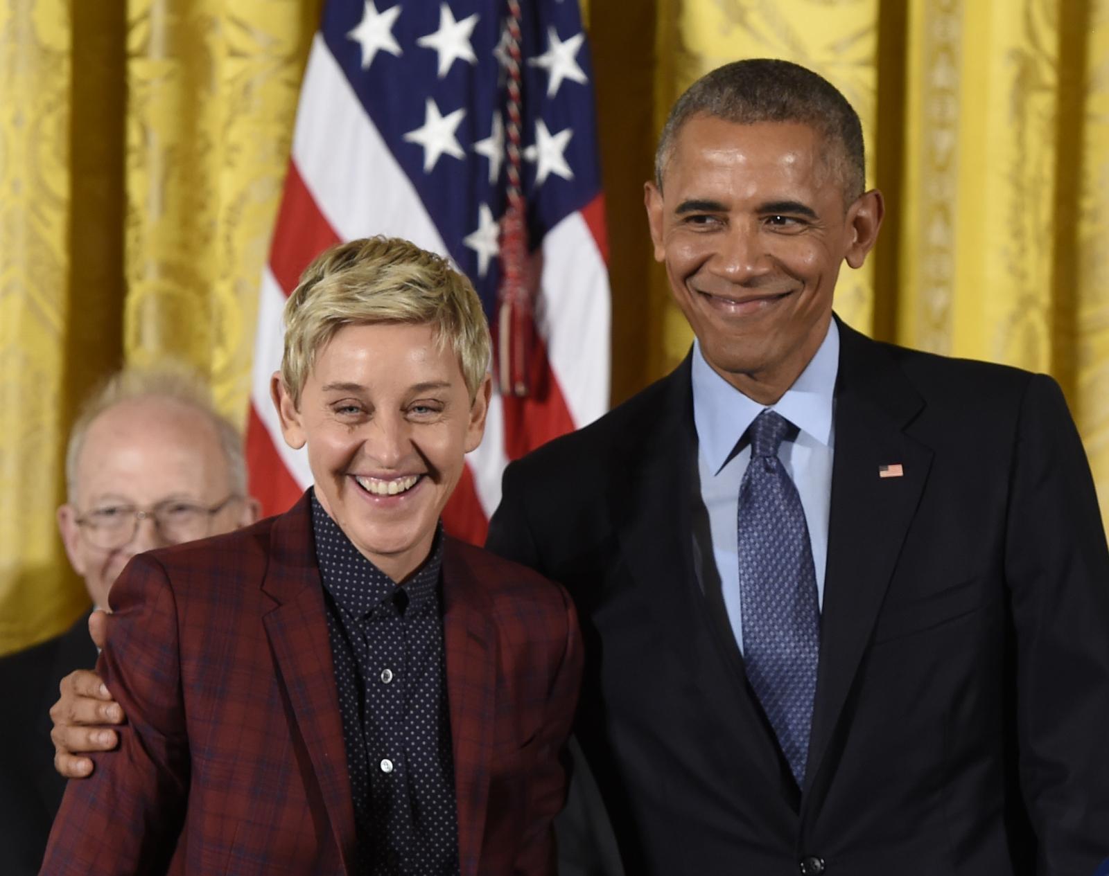 Barack Obama and Ellen DeGeneres