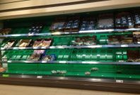Lidl empty shelves