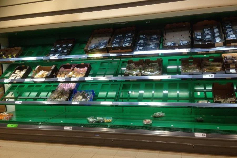 Lidl empty shelves