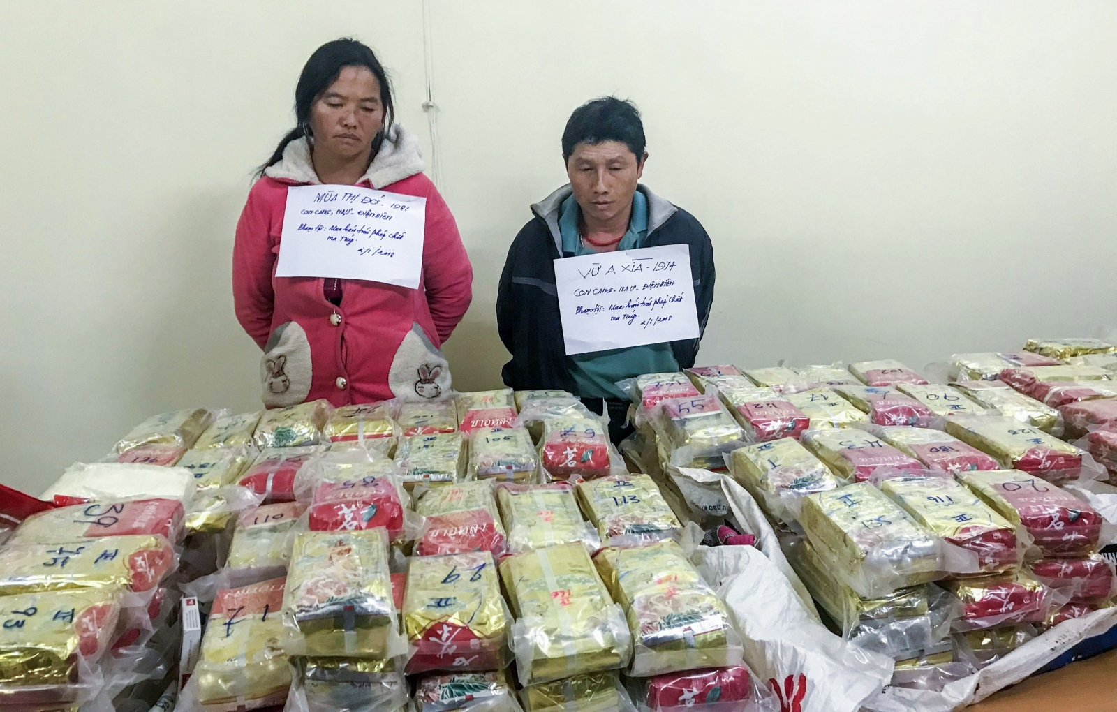 Vietnamese cops have seized $3m (£2.2m) worth of heroin smuggled inside packets of tea