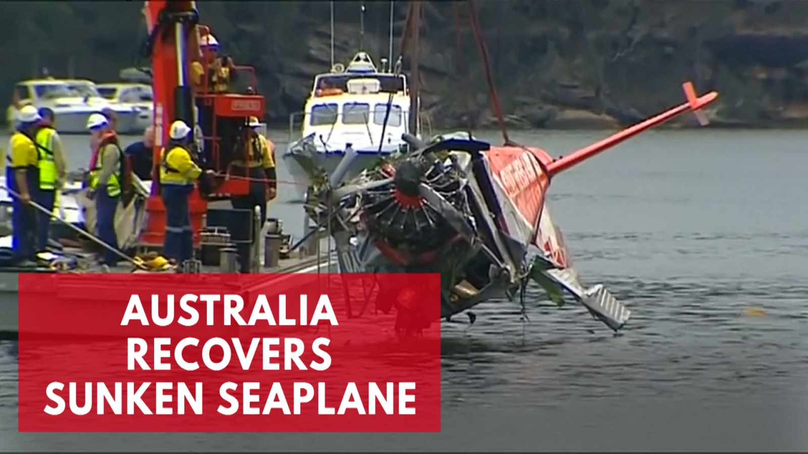 sydney-seaplane-wreckage-raised-from-riverbed