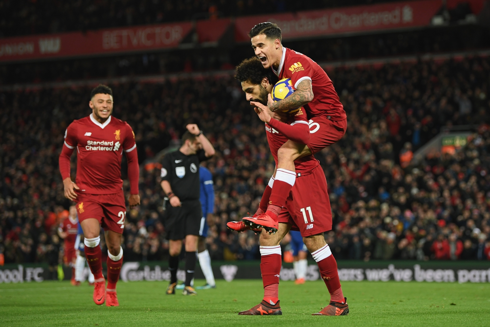 Philippe Coutinho and Mohamed Salah