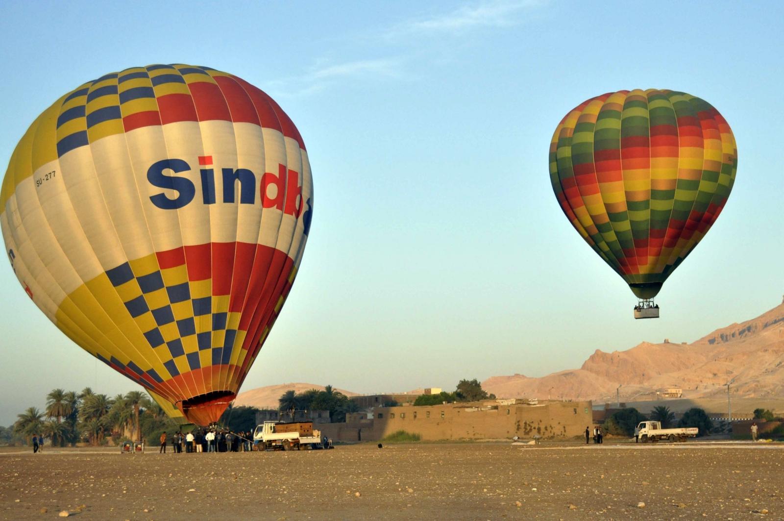 hot air balloon Egypt