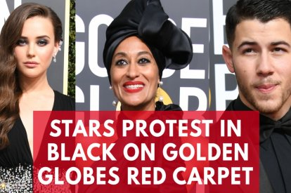 2018 Golden Globes Red Carpet: Stars Wear Black In Time's Up Protest Against Hollywood Sexual Harassment
