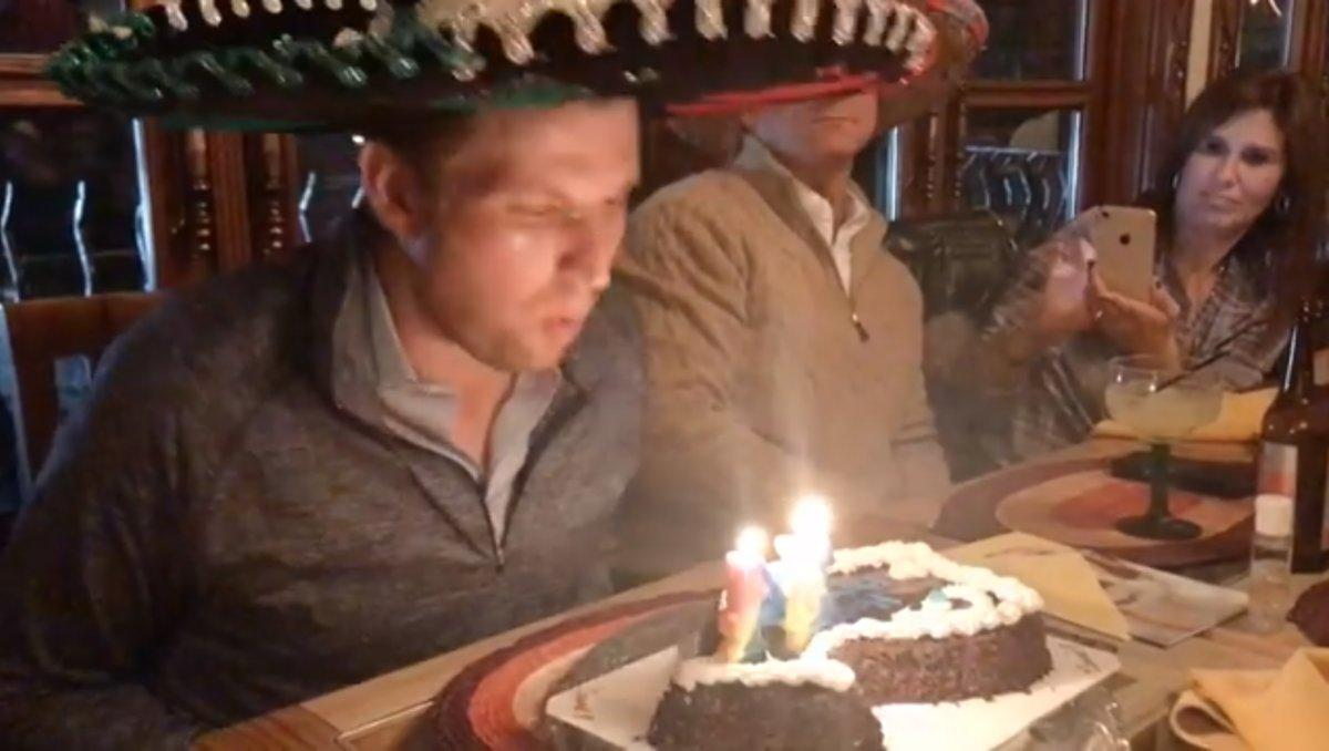 Pleasing Eric Trump Mocked For His Sombrero Birthday Party With Fudgie The Birthday Cards Printable Benkemecafe Filternl
