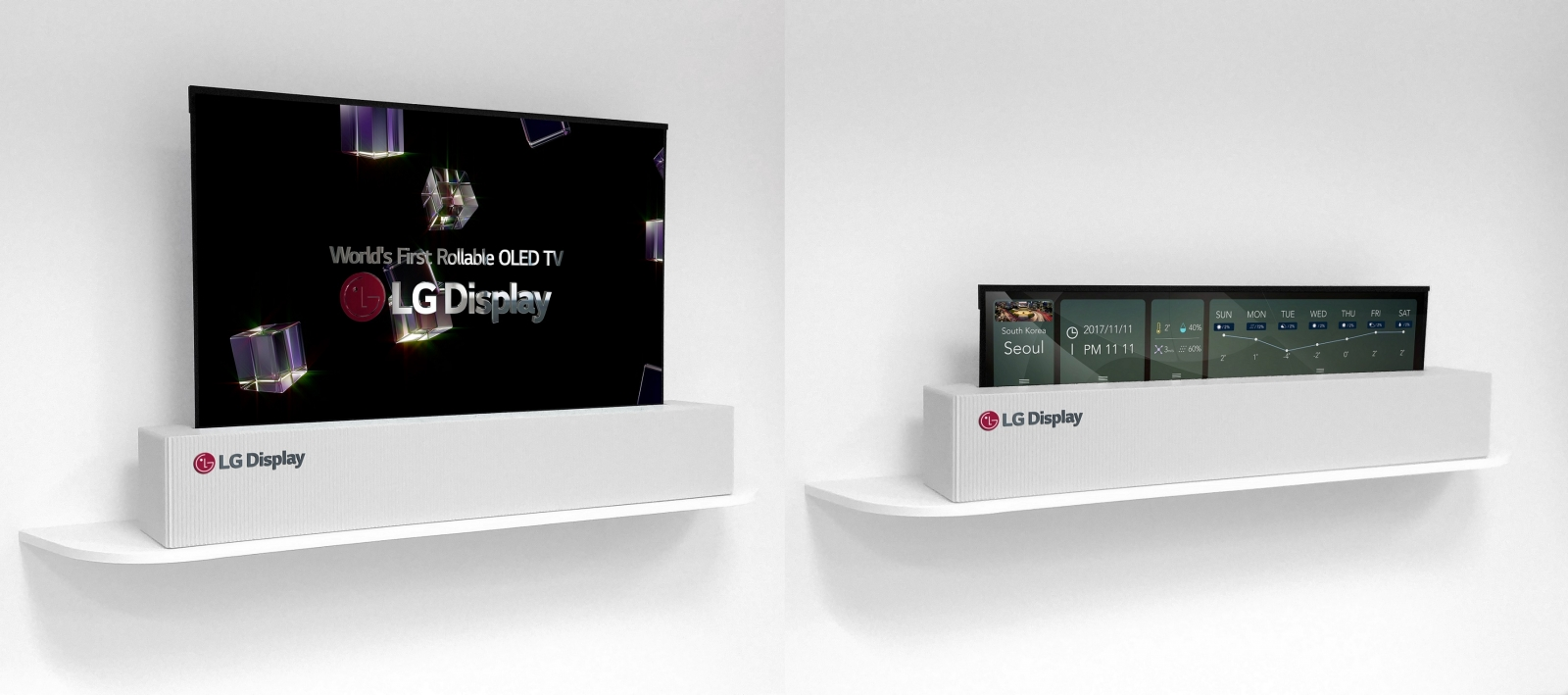 LG rollable TV