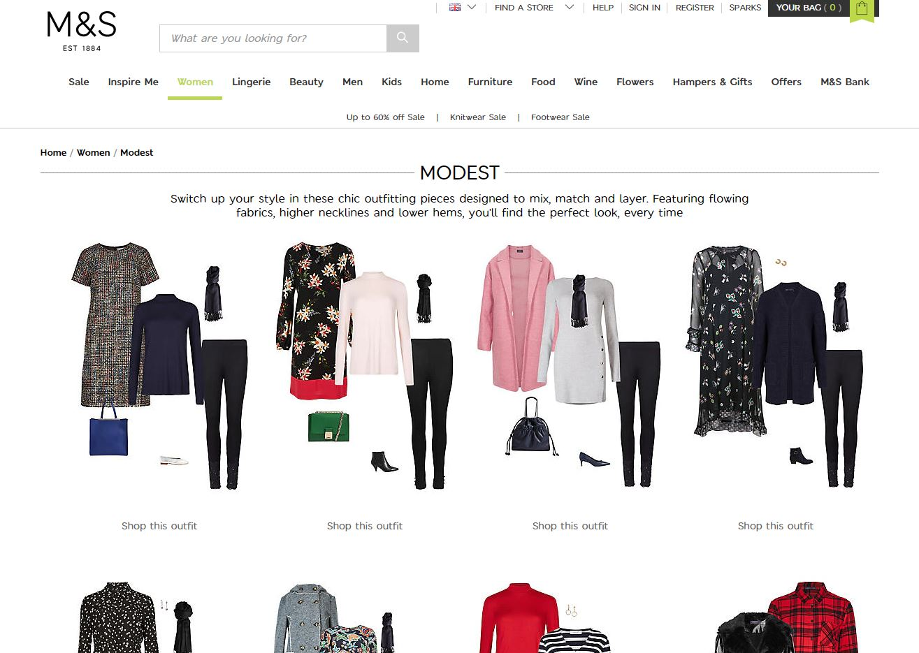 Marks and Spencer modest clothing