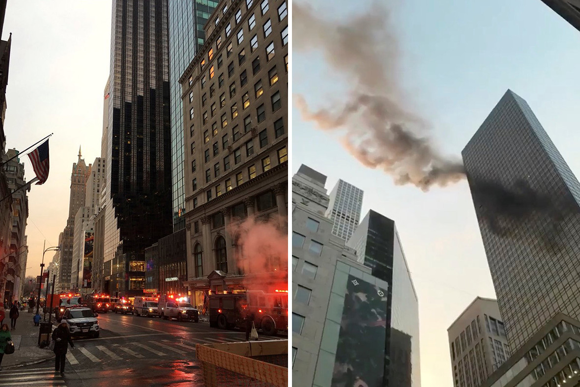 Two injured in fire at New York's Trump Tower, officials say