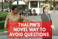 'Ask This Guy': Thai PM Leaves Cardboard Cutout To Avoid Questions From Press