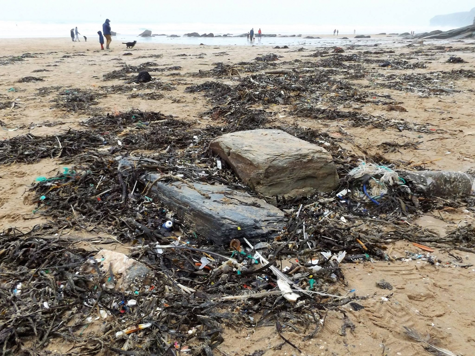 Litter at Watergate Bay
