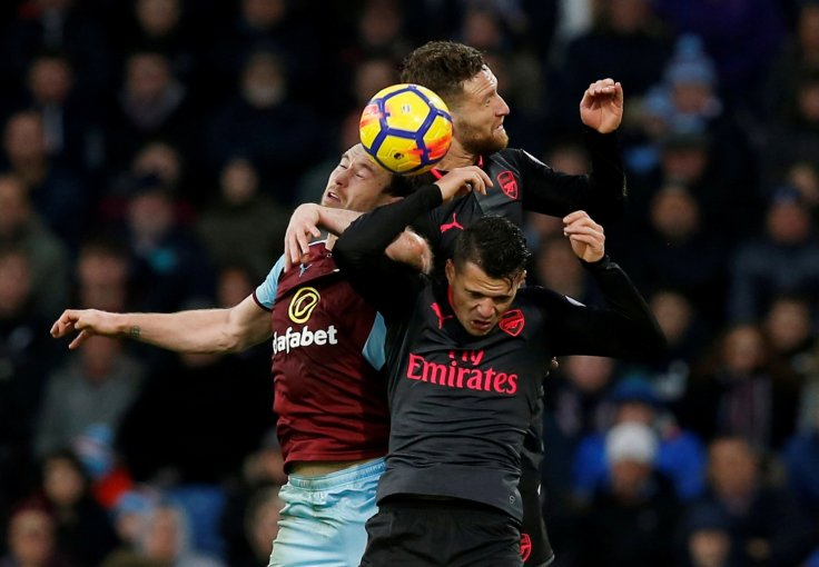 Granit Xhaka, Shkodran Mustafi and Ashley Barnes
