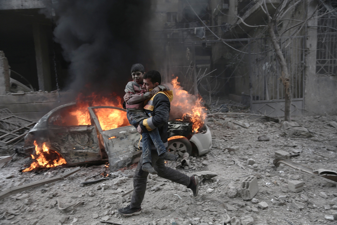 Syria children ghouta