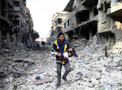 Syria children ghouta