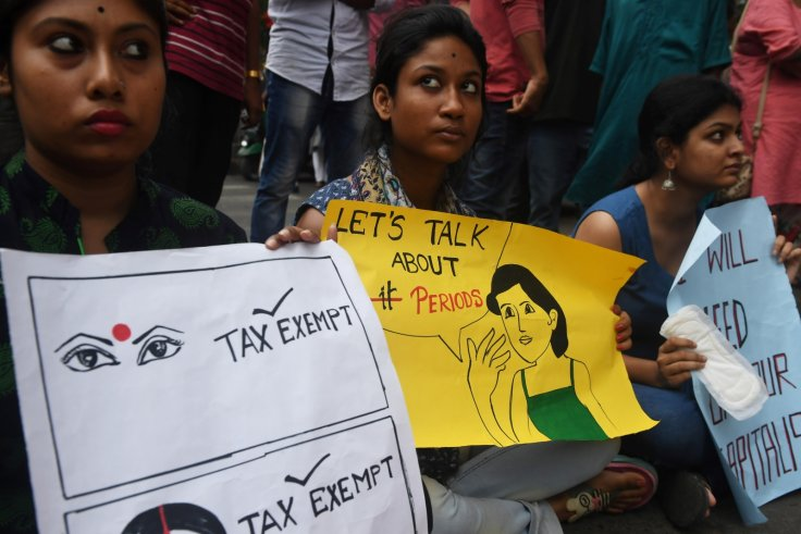 India protest sanitary pads