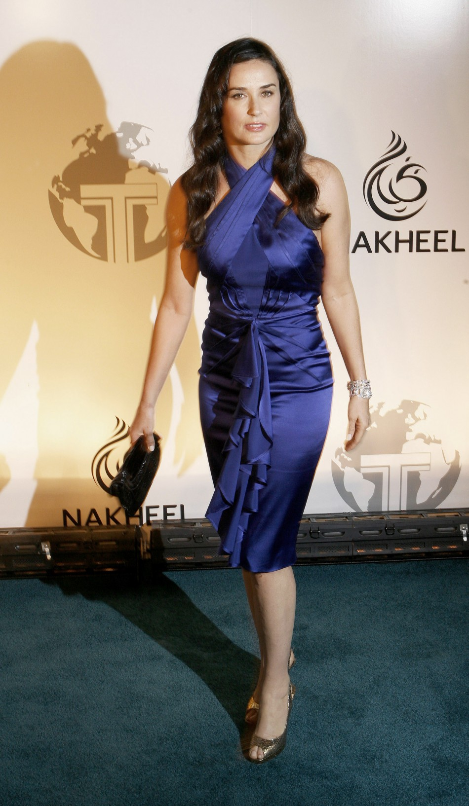 Actress Demi Moore arrives at a party to introduce The Trump International Hotel  Tower Dubai in New York