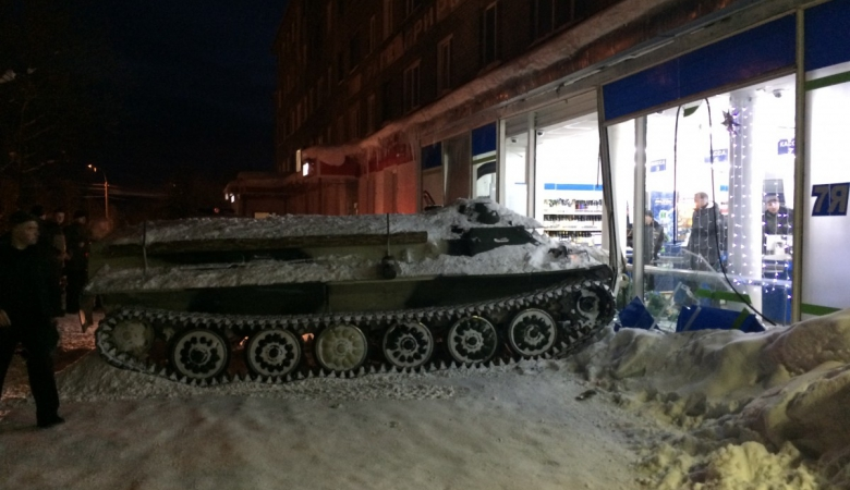 Drunk Russian uses armored vehicle for booze heist