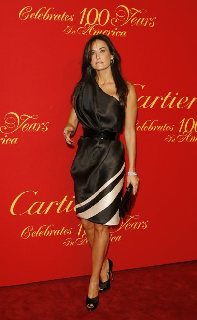 Actress Demi Moore arrives for the Cartier 100th Anniversary in America Celebration event in New York