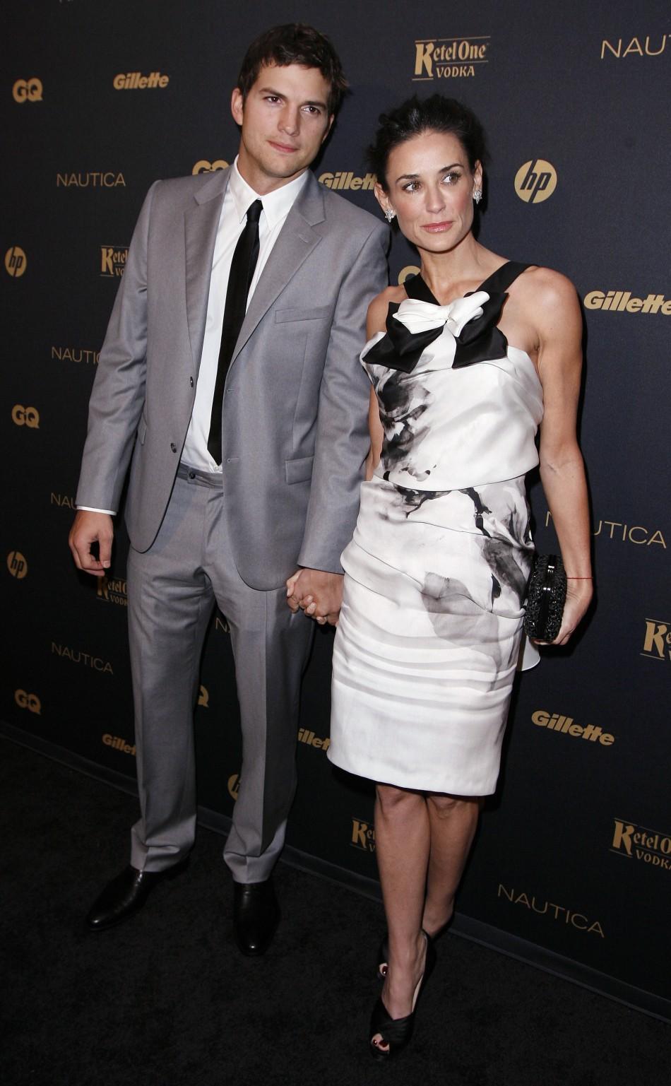 "Actors Ashton Kutcher and Demi Moore arrive for GQ Magazine's ""Gentleman's Ball"" in New York"