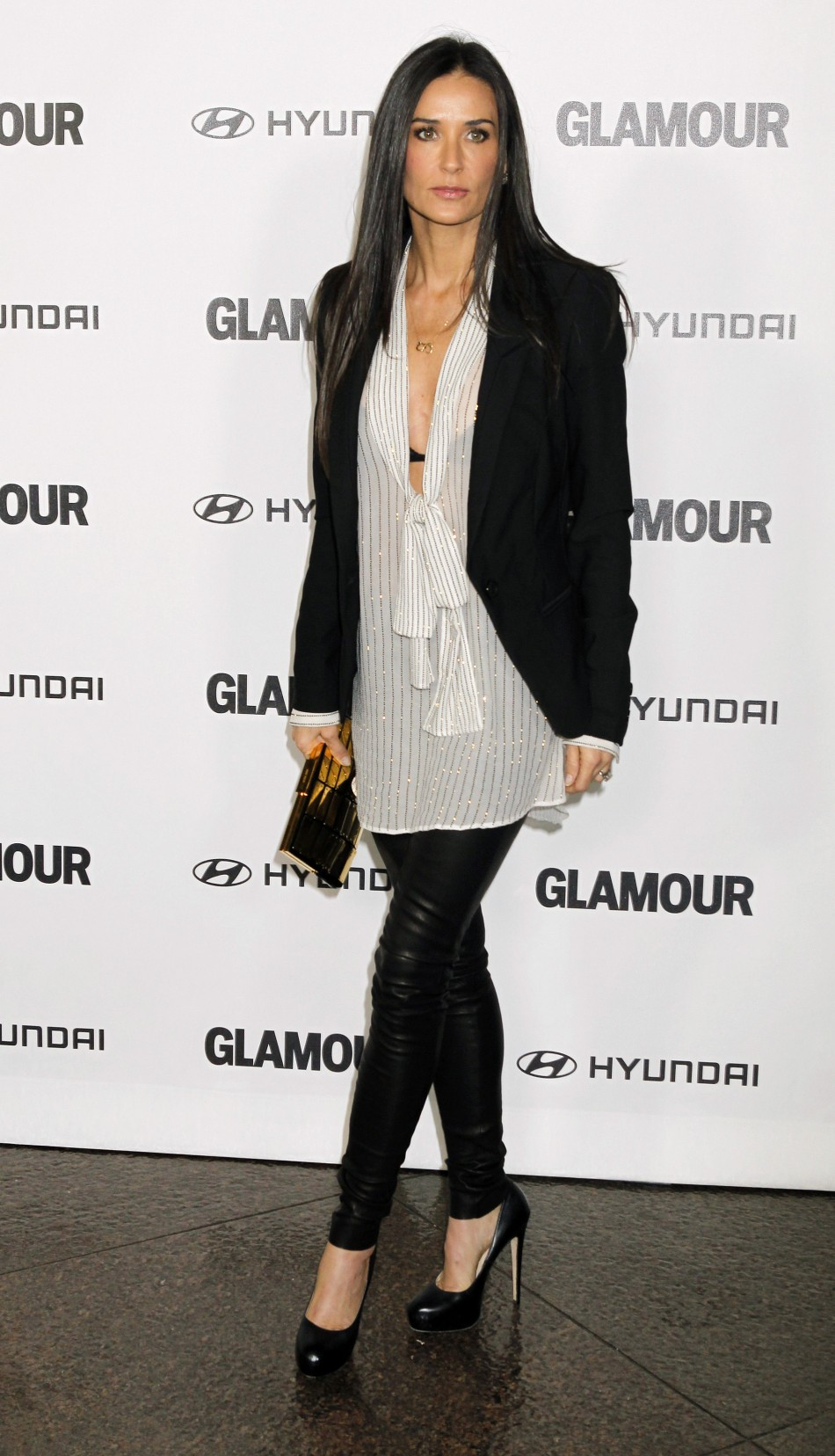 Actress Demi Moore arrives at the Glamour Reel Moments event in Los Angeles