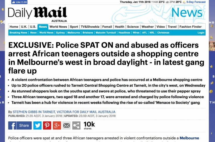 Daily Mail Melbourne