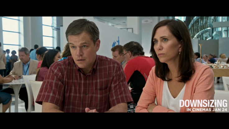 Downsizing exclusive clip: Matt Damon and Kristen Wiig become millionaires