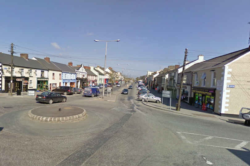 The high street in Kingscourt, County Cavan