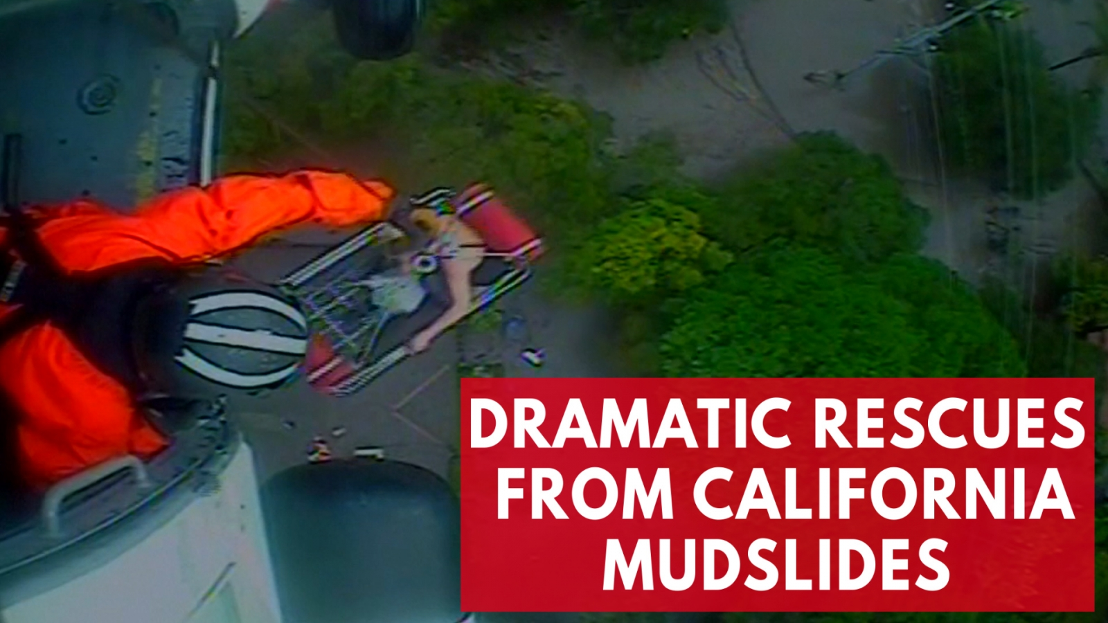 Dramatic rescues from California mudslides