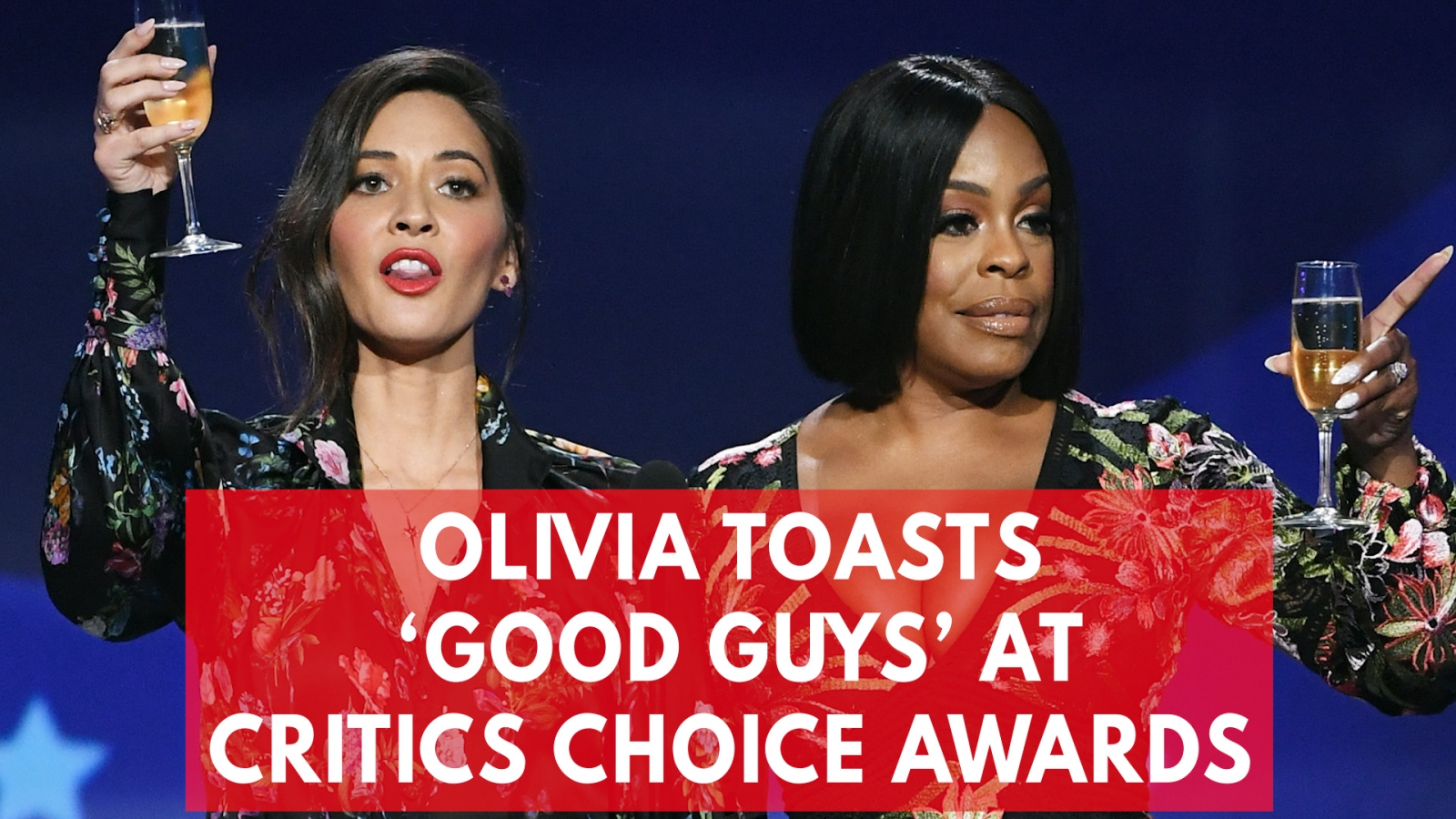 Olivia Munn and Niecy Nash sarcastically toast 'the good guys' at Critics' Choice Awards