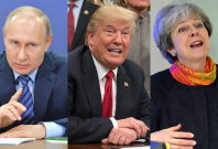 Vladimir Putin Donald Trump Theresa May