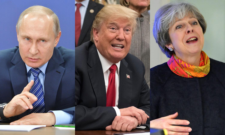 Vladimir Putin Donald Trump Theresa May