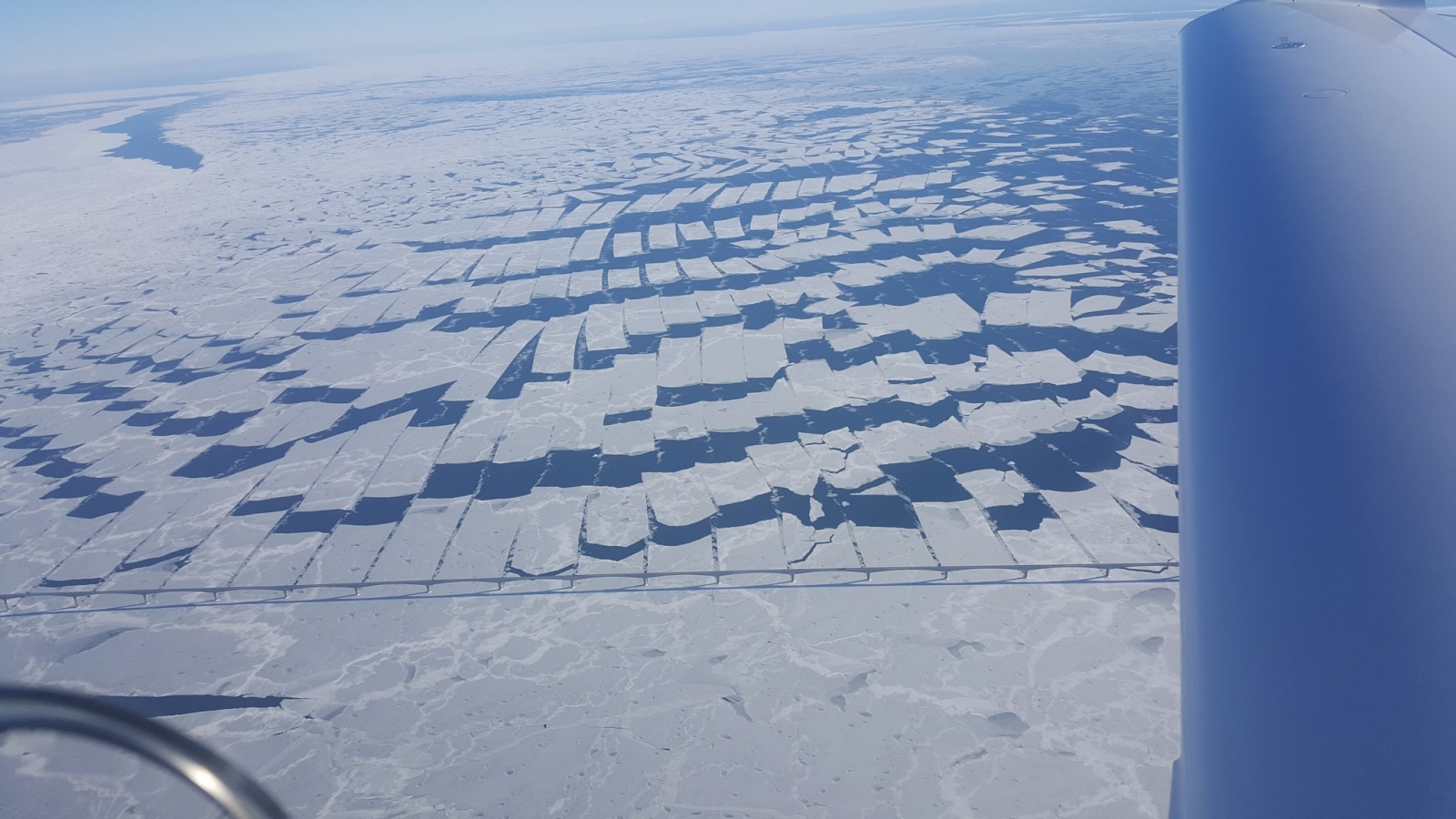 Strange ice patterns Canada.