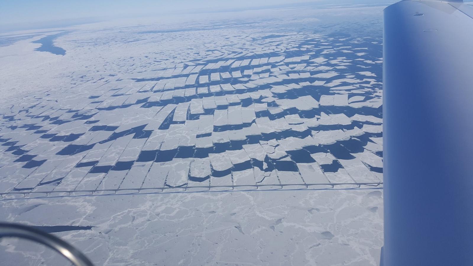 Strange ice patterns Canada.