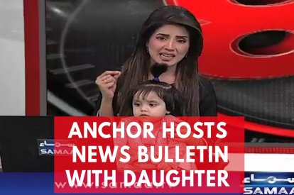 TV Anchor Presents News With Daughter On Her Lap To Protest 8-Year-Old's Rape And Murder