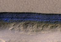 Steep ice cliffs on Mars