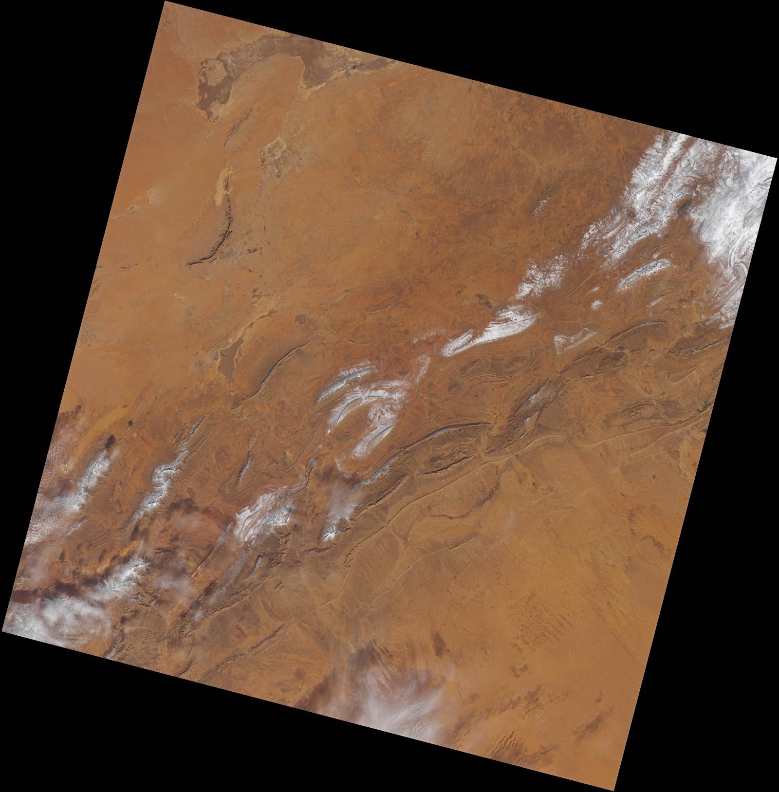 Saharan snow