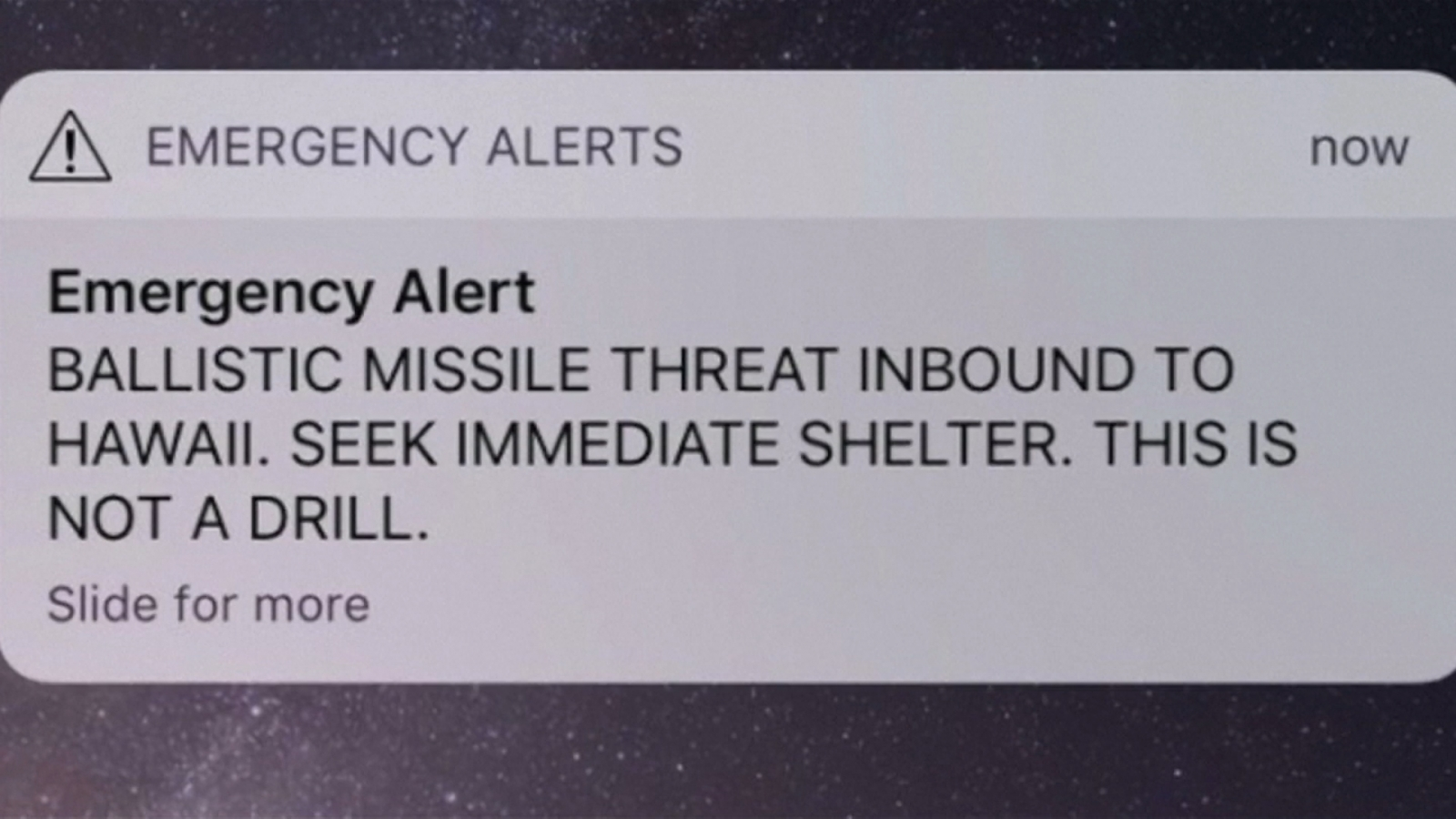 Hawaii residents fear for life as missile alert message is mistakenly sent out